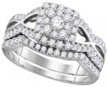 Ladies Two Piece Set 14K White Gold 1.00 ct. GD-111747