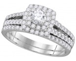 Ladies Two Piece Set 14K White Gold 1.00 ct. GD-111749