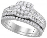 Ladies Two Piece Set 14K White Gold 1.00 ct. GD-111753