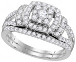 Ladies Two Piece Set 14K White Gold 1.00 ct. GD-111755