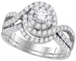 Ladies Two Piece Set 14K White Gold 1.00 ct. GD-111760