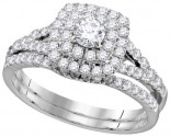 Ladies Two Piece Set 14K White Gold 1.00 ct. GD-111766