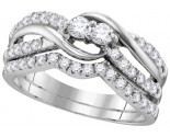 Ladies Two Piece Set 14K White Gold 0.75 cts. GD-112190