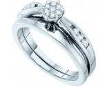 Ladies Two Piece Set 14K White Gold 0.25 cts. GD-13913