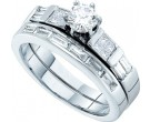 Ladies Two Piece Set 14K White Gold 1.00 ct. GD-13998