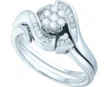 Ladies Two Piece Set 14K White Gold 0.33 cts. GD-14185