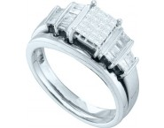 Ladies Two Piece Set 14K White Gold 0.51 cts. GD-15147