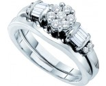 Ladies Two Piece Set 14K White Gold 0.50 cts. GD-15168