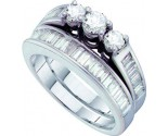 Ladies Two Piece Set 14K White Gold 1.50 cts. GD-15255