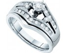 Ladies Two Piece Set 14K White Gold 0.25 cts. GD-16093