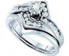 Ladies Two Piece Set 14K White Gold 0.25 cts. GD-16930
