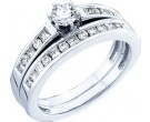 Ladies Two Piece Set 14K White Gold 0.75 cts. GD-18503
