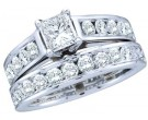 Ladies Two Piece Set 14K White Gold 1.95 cts. GD-46974