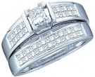 Ladies Two Piece Set 14K White Gold 1.00 ct. GD-18512
