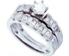 Ladies Two Piece Set 14K White Gold 1.40 ct. GD-18525