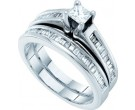 Ladies Two Piece Set 14K White Gold 1.00 ct. GD-18526
