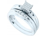 Ladies Two Piece Set 14K White Gold 0.25 cts. GD-19767
