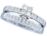 Ladies Two Piece Set 14K White Gold 0.50 cts. GD-21827