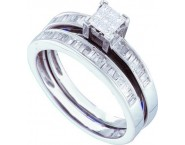 Ladies Two Piece Set 14K White Gold 0.50 cts. GD-21868