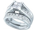 Ladies Two Piece Set 10K White Gold 0.90 cts. GD-76983