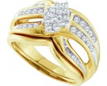Ladies Two Piece Set 10K Yellow Gold 0.50 cts. GD-24055