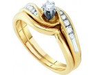 Ladies Two Piece Set 10K Yellow Gold 0.25 cts. GD-26286