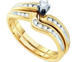 Ladies Two Piece Set 10K Yellow Gold 0.27 cts. GD-26288