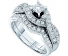 Ladies Two Piece Set 14K White Gold 0.77 cts. GD-29680