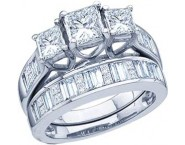 Ladies Two Piece Set 14K White Gold 2.00 ct. GD-29687 [GD-29687]