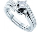 Ladies Two Piece Set 14K White Gold 0.56 cts. GD-30130