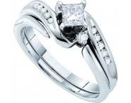 Ladies Two Piece Set 14K White Gold 0.56 cts. GD-30130 [GD-30130]