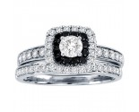 Black Diamond Two Piece Set 14K White Gold 1.00 ct. CL-37171