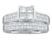 Ladies Two Piece Set 14K White Gold 1.50 cts. GD-38818