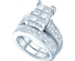 Ladies Two Piece Set 14K White Gold 2.00 ct. GD-38843