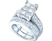 Ladies Two Piece Set 14K White Gold 3.00 ct. GD-38828