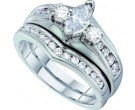 Ladies Two Piece Set 14K White Gold 1.00 ct. GD-39176