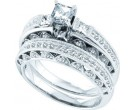 Ladies Two Piece Set 14K White Gold 0.99 cts. GD-39473