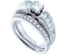 Ladies Two Piece Set 14K White Gold 1.00 ct. GD-39477