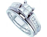 Ladies Two Piece Set 14K White Gold 1.00 ct. GD-39860
