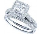 Ladies Two Piece Set 14K White Gold 1.25 cts. GD-40079