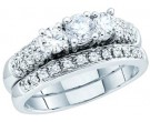 Ladies Two Piece Set 14K White Gold 1.10 cts. GD-40129