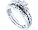 Ladies Two Piece Set 14K White Gold 0.20 cts. GD-40356