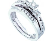 Ladies Two Piece Set 14K White Gold 0.20 cts. GD-40356 [GD-40356]