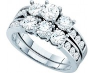 Ladies Two Piece Set 14K White Gold 2.00 ct. GD-40366
