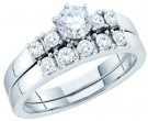 Ladies Two Piece Set 14K White Gold 0.78 cts. GD-40386