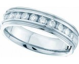 Ladies Diamond Band 14K White Gold 1.00 ct. GD-40798