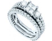 Ladies Two Piece Set 14K White Gold 2.00 ct. GD-41531