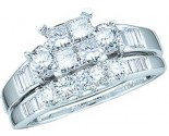 Ladies Two Piece Set 10K White Gold 1.00 ct. GD-43587