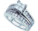 Ladies Two Piece Set 14K White Gold 1.50 cts. GD-44408
