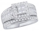Ladies Two Piece Set 14K White Gold 1.65 cts. GD-44608